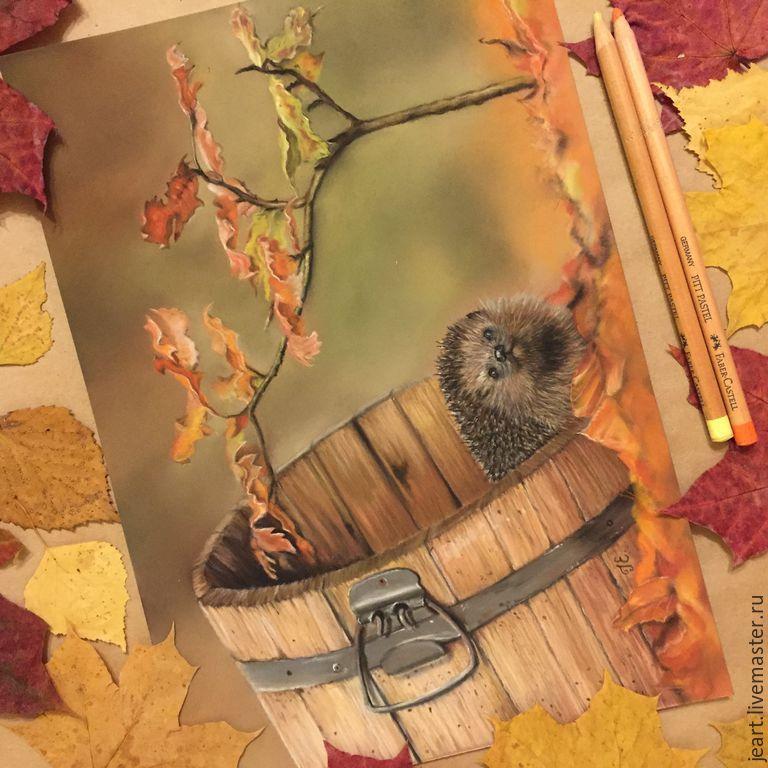 Картинки ежа осенью