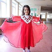 Костюмы ручной работы. Ярмарка Мастеров - ручная работа Платье для танцев Рябинушка. Handmade.