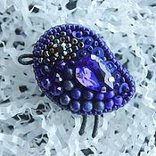 """Украшения ручной работы. Ярмарка Мастеров - ручная работа Брошь синяя птица из лазурита """"Blue bird"""". Handmade."""