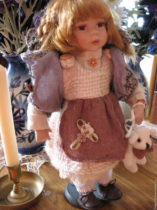 Винтажные куклы и игрушки. Ярмарка Мастеров - ручная работа. Купить Винтажная куколка. Handmade. Белый, винтажная игрушка, кукла для девочки