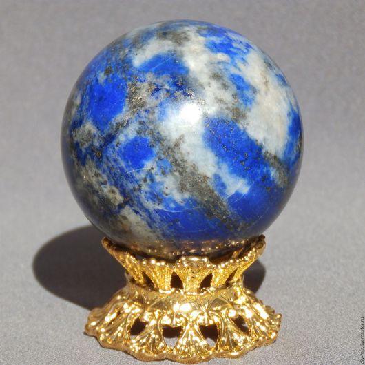 Статуэтки ручной работы. Ярмарка Мастеров - ручная работа. Купить Шар лазурит, 45 мм. Handmade. Синий, для коллекции