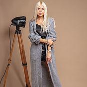 Одежда handmade. Livemaster - original item Long grey cardigan. Handmade.