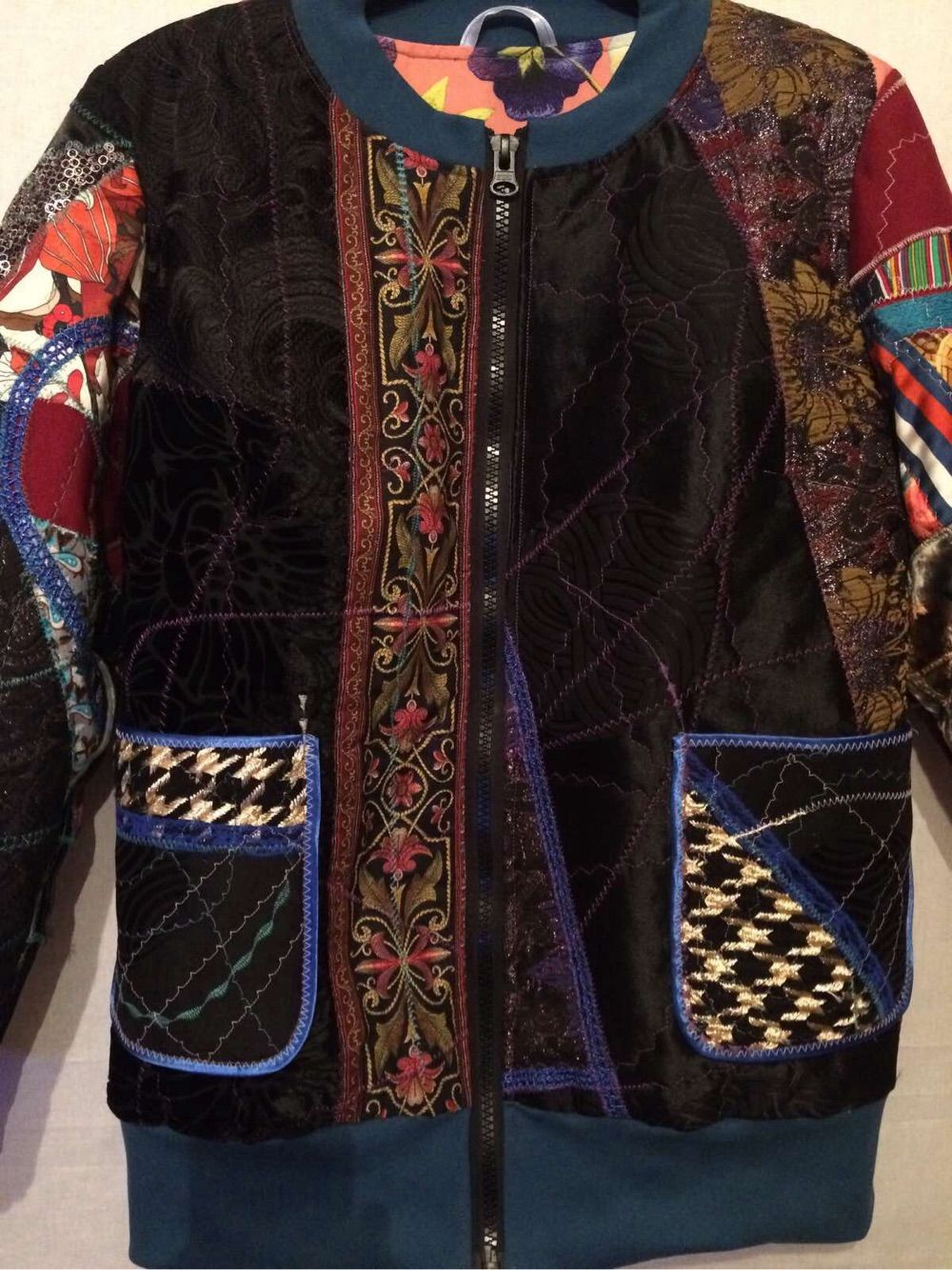 Women's patchwork bomber, Outerwear Jackets, Moscow,  Фото №1