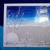 Картины и панно ручной работы. Ярмарка Мастеров - ручная работа «Ультрамариновое море». Handmade.