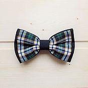 """Работы для детей, ручной работы. Ярмарка Мастеров - ручная работа Детская галстук - бабочка """"В клеточку"""" / черная. Handmade."""