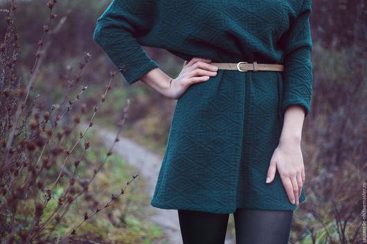 Платья ручной работы. Ярмарка Мастеров - ручная работа. Купить Туника шерстяная. Handmade. Тёмно-зелёный, шерстяной, холодная осень