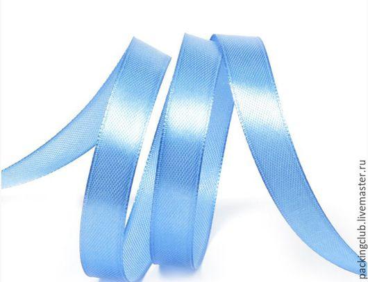 Другие виды рукоделия ручной работы. Ярмарка Мастеров - ручная работа. Купить Атласная лента 12 мм. Handmade. Голубой
