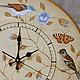 """Часы для дома ручной работы. Ярмарка Мастеров - ручная работа. Купить Часы настенные """"Птички-бабочки"""". Handmade. Часы"""