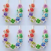 Материалы для творчества handmade. Livemaster - original item Silver beads