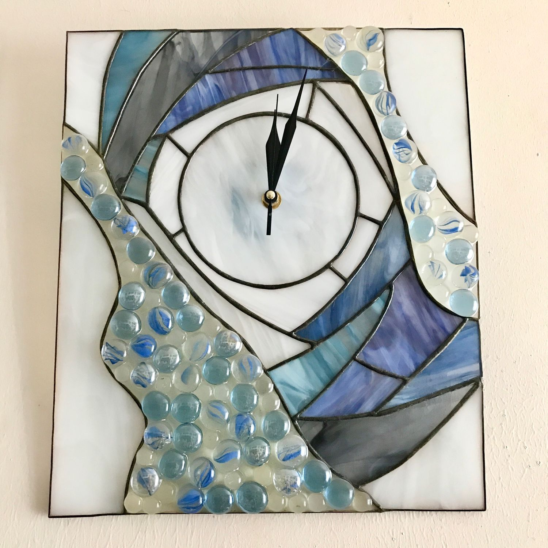 Часы настенные Голубые дали, Часы, Новосибирск,  Фото №1