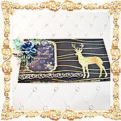 Открытки handmade. Livemaster - original item gift envelopes: Golden Deer. Handmade.