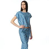 Одежда handmade. Livemaster - original item Set in a pajama style