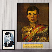 Картины и панно handmade. Livemaster - original item Portrait of a man in hussar. Portraits to order Moscow. Gift. Handmade.