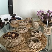 Для дома и интерьера handmade. Livemaster - original item Baskets made of jute. Handmade.