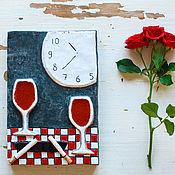 Картины и панно handmade. Livemaster - original item Evening with friends. Handmade tile, ceramics.. Handmade.