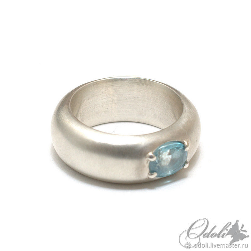 Silver 925 ring with blue zircon Silken, Rings, Krasnoyarsk,  Фото №1