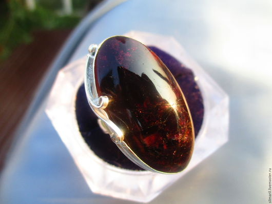 кольцо `Властелин` цена 7500 индиголит ,серебро,филигрань