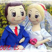 Куклы и игрушки ручной работы. Ярмарка Мастеров - ручная работа Жених и невеста Love is.... Handmade.