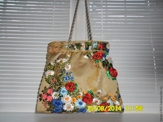 Женские сумки ручной работы. Ярмарка Мастеров - ручная работа. Купить Сумка вышитая атласными лентами. Handmade. Комбинированный, цветочный