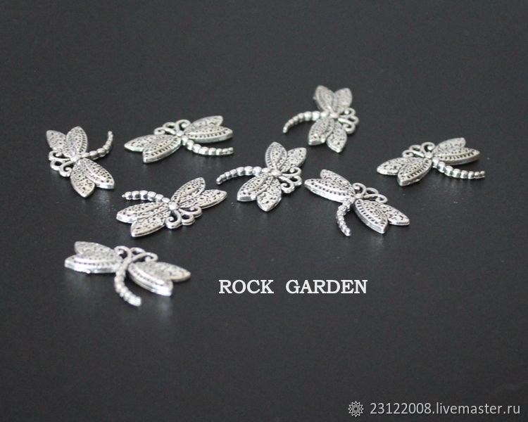 Dragonfly pendant, antique silver 16h25mm, Pendants, St. Petersburg,  Фото №1