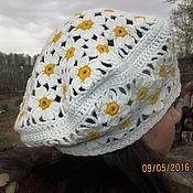 Аксессуары ручной работы. Ярмарка Мастеров - ручная работа Вязаный берет Весна белый. Handmade.