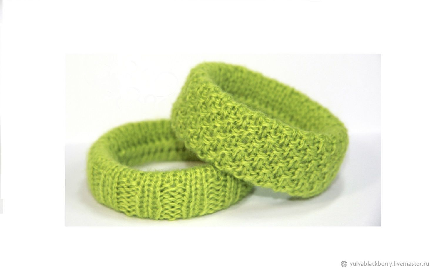 Knitted bangles ( 2 PCs) Green Apple, Bead bracelet, Novosibirsk,  Фото №1