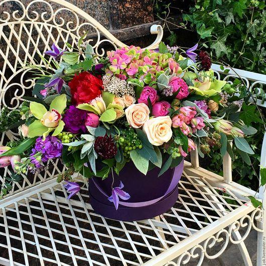 """Букеты ручной работы. Ярмарка Мастеров - ручная работа. Купить Коробка с цветами """"Лето"""". Handmade. Коробка с цветами, букет"""