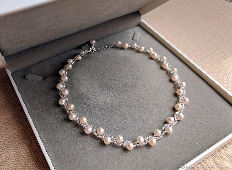 Freshwater pearl jewelry set wedding Necklace and bracelet set