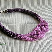 Украшения handmade. Livemaster - original item Harness beaded Lavender. Handmade.