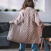 Одежда handmade. Livemaster - original item cardigans: Women`s knitted cardigan oversize in powdery beige. Handmade.