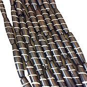 Материалы для творчества handmade. Livemaster - original item Beads Buffalo Bone Tube Twisted Ribbon 36h6mm. Handmade.