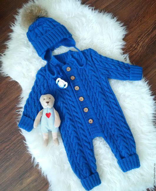 """Одежда для мальчиков, ручной работы. Ярмарка Мастеров - ручная работа. Купить комплект для мальчика """"Синее море"""". Handmade. Комплект вязаный"""