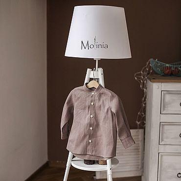 Одежда ручной работы. Ярмарка Мастеров - ручная работа Рубашка с длинным рукавом для мальчика лён хлопок. Handmade.