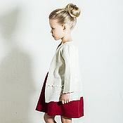 Работы для детей, ручной работы. Ярмарка Мастеров - ручная работа Белое валяное пальто для девочки. Handmade.
