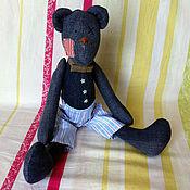 Куклы и игрушки ручной работы. Ярмарка Мастеров - ручная работа Тильда мишка Винтаж большой (40 см). Handmade.