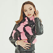 Аксессуары handmade. Livemaster - original item Real rabbit fur scarf/ Bright. Handmade.