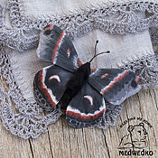 Brooches handmade. Livemaster - original item Brooch leather Butterfly Saturnia Cecropia. Handmade.