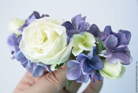 """Свадебные украшения ручной работы. Ярмарка Мастеров - ручная работа. Купить Свадебная веточка """"Sweet moments"""".Цветы из шелка, шелковые цветы. Handmade."""