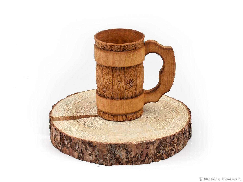 Mug tree. Wooden beer mug 0.5 l, Mugs and cups, Tomsk,  Фото №1