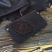 Кожаное портмоне Harley кошелек лопатник тревел мужской женский