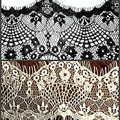 Материалы для творчества ручной работы. Ярмарка Мастеров - ручная работа Кружево белое и черное12 см, длина 3м.. Handmade.