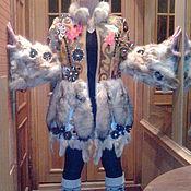 """Одежда ручной работы. Ярмарка Мастеров - ручная работа шубка пальто жакет """"Авторская во всём"""""""". Handmade."""