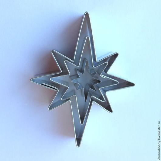 Другие виды рукоделия ручной работы. Ярмарка Мастеров - ручная работа. Купить Рождественская звезда (набор 3 шт.). Резак, каттер, формочка. Handmade.