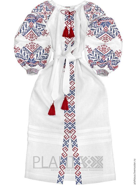 """Платья ручной работы. Ярмарка Мастеров - ручная работа. Купить Длинное платье """"Шарм Традиций"""". Handmade. Белый, вышитое платье"""