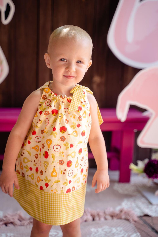 Платье-туника «Летний сад», Одежда для девочек, Орск, Фото №1