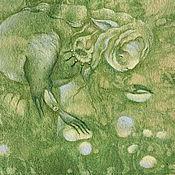 Картины и панно ручной работы. Ярмарка Мастеров - ручная работа Время собирать... Лесная шаманка. Сказочная картина... Handmade.