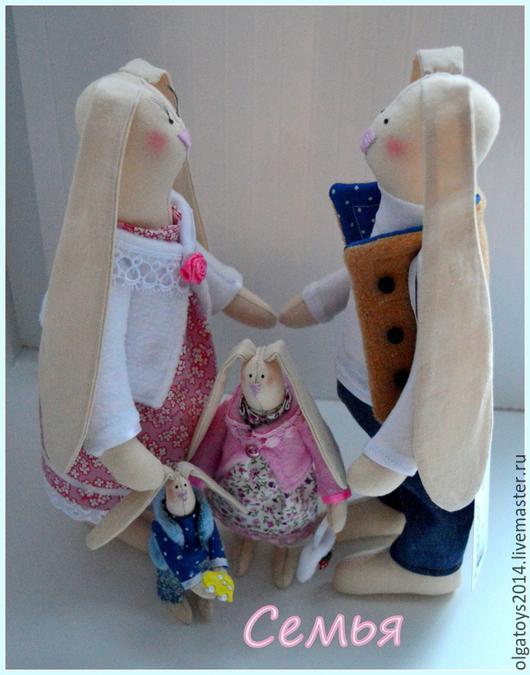 Куклы Тильды ручной работы. Ярмарка Мастеров - ручная работа. Купить Семья. Handmade. Бежевый, заяц, тильда заяц