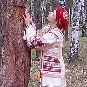 Русский стиль ручной работы. Ярмарка Мастеров - ручная работа Платье в народном стиле. Handmade.