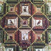Для дома и интерьера ручной работы. Ярмарка Мастеров - ручная работа Лоскутное одеяло СОВЫ И ЗВЕРИ. Handmade.