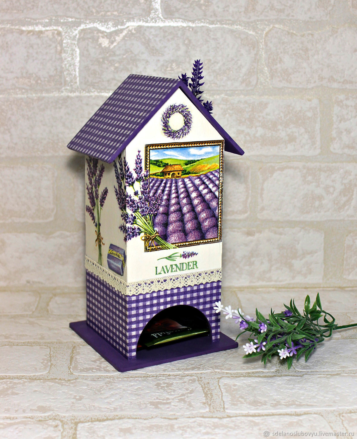Tea house lavender, decoupage, Houses, Moscow,  Фото №1